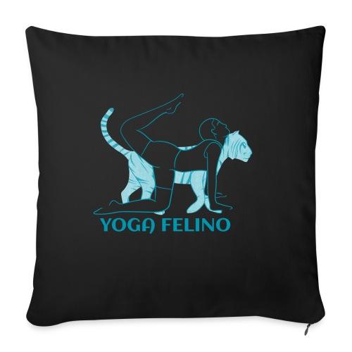 t shirt design YOGA FELINO - Cuscino da divano 44 x 44 cm con riempimento