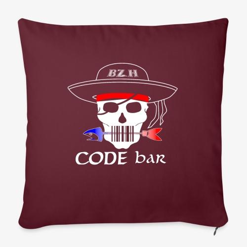 Code Bar white - Coussin et housse de 45 x 45 cm