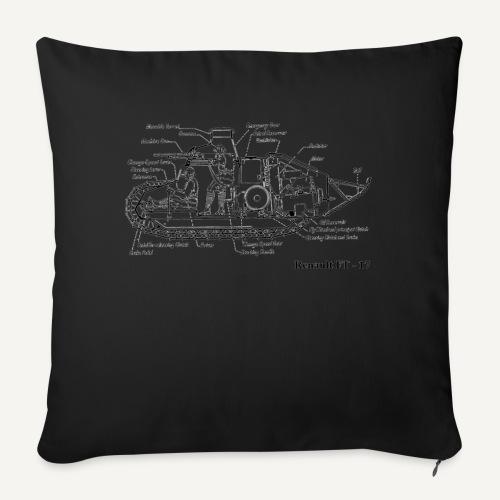 ft17 - Poduszka na kanapę z wkładem 44 x 44 cm