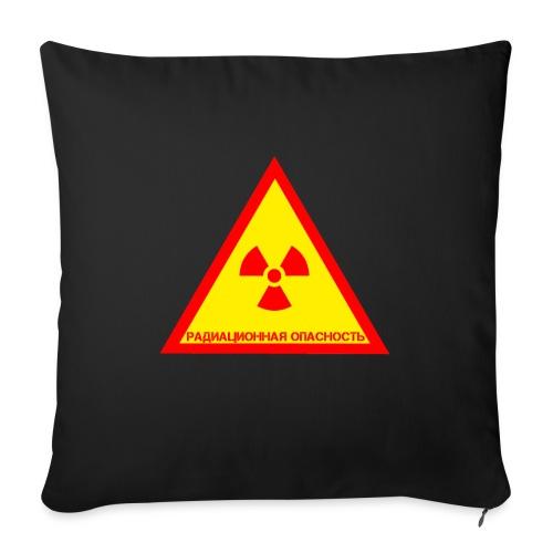 Achtung Radioaktiv Russisch - Sofakissen mit Füllung 44 x 44 cm