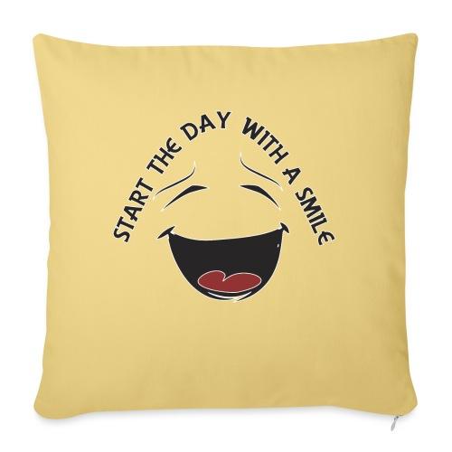 Zacznij dzień z uśmiechem - Poduszka na kanapę z wkładem 44 x 44 cm