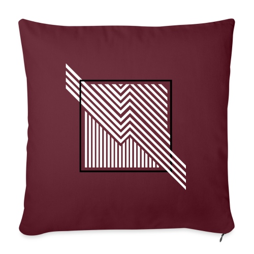 Lines in the dark - Sofa pillow with filling 45cm x 45cm