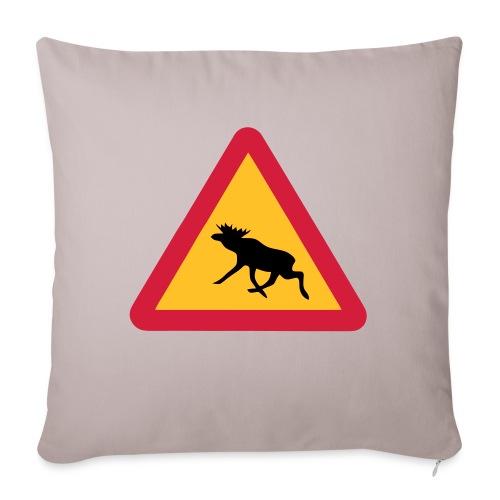 Warnung Elch! Älg! Moose! Schweden Sweden (vektor) - Sofakissen mit Füllung 44 x 44 cm