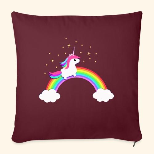 Rainbow Unicorn - Sofakissen mit Füllung 44 x 44 cm