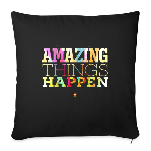 Amazing Things Happen - Simplified - Sofa pillow with filling 45cm x 45cm