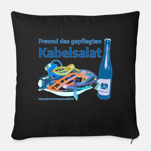 Freund des gepflegten Kabelsalat - Comic - Sofakissen mit Füllung 44 x 44 cm