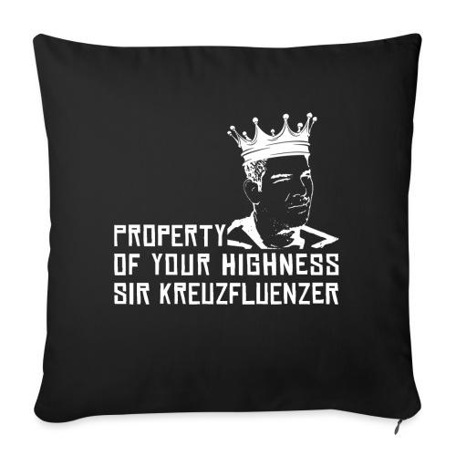 Property of your Highness WHITE - Sofakissen mit Füllung 44 x 44 cm
