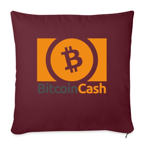 Bitcoin Cash - Sohvatyynyt täytteellä 44 x 44 cm