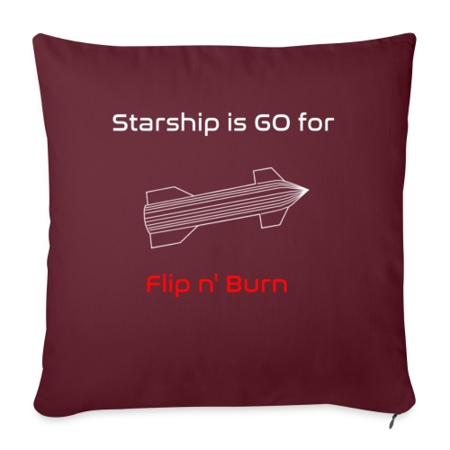 Starship-like Wireframe is Ready for Flip n' Burn - Sofa pillow with filling 45cm x 45cm