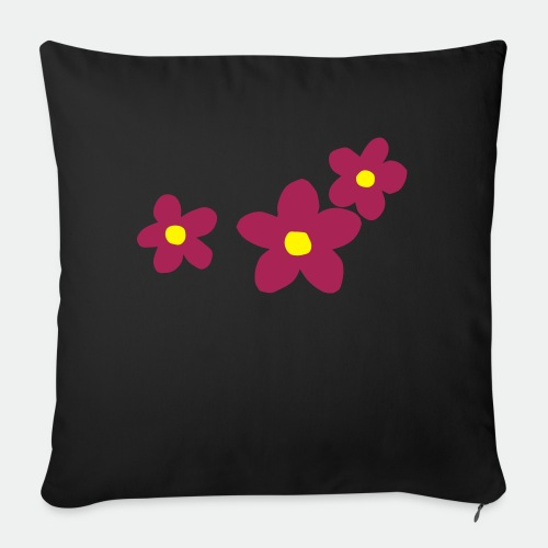 Three Flowers - Sofa pillow with filling 45cm x 45cm