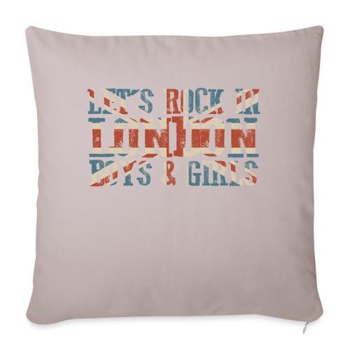 LET'S ROCK IN LONDON - Cuscino da divano 44 x 44 cm con riempimento