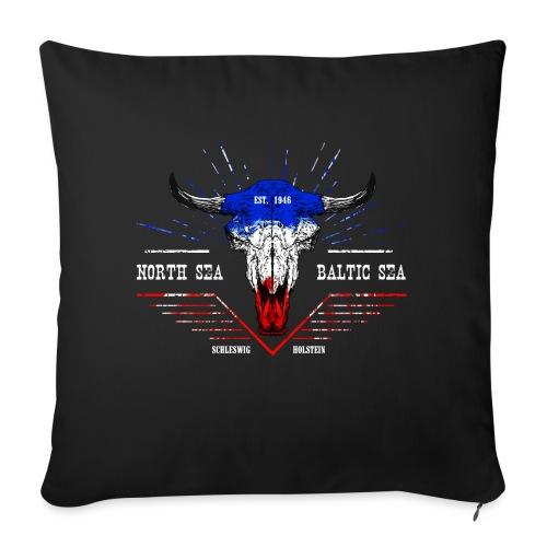 Bull Skull North Sea Baltic Sea - Sofakissen mit Füllung 44 x 44 cm