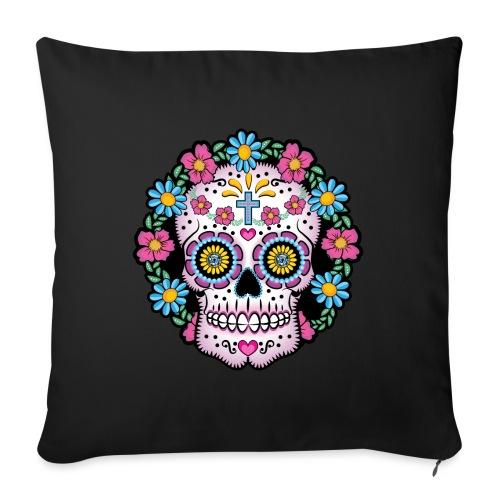 Dia de los Muertos Skull- - Sofa pillow with filling 45cm x 45cm