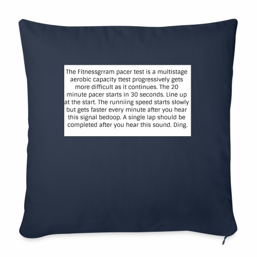 FitnessGram pacer Test - Sofa pillow with filling 45cm x 45cm