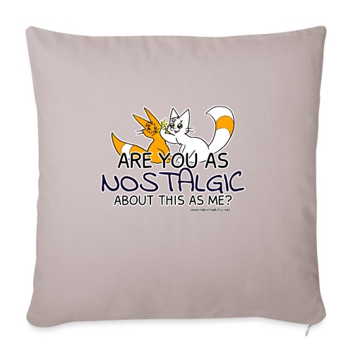 Nostalgia Hurts - Sofa pillow with filling 45cm x 45cm