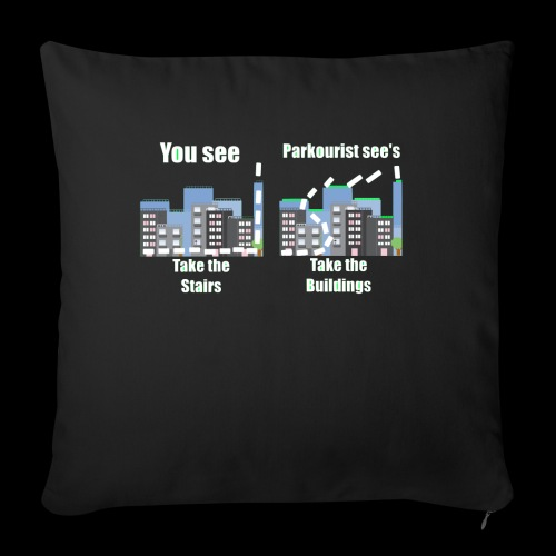 you see - Sofa pillow with filling 45cm x 45cm