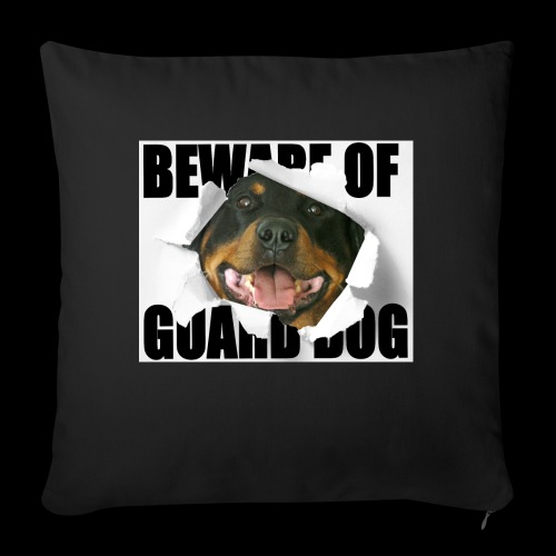 beware of guard dog - Sofa pillow with filling 45cm x 45cm