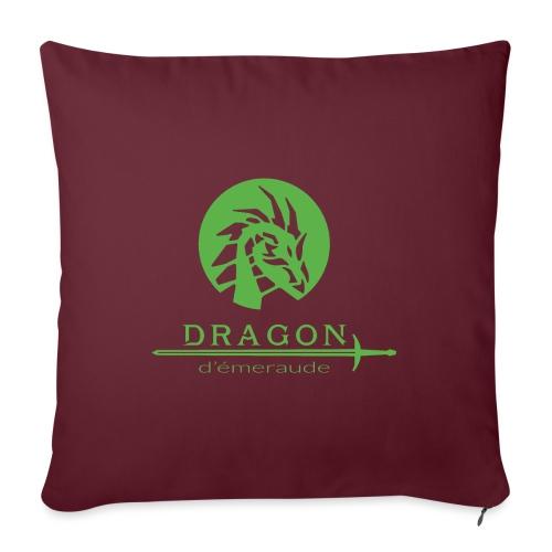 dragon d'émeraude vert - Coussin et housse de 45 x 45 cm