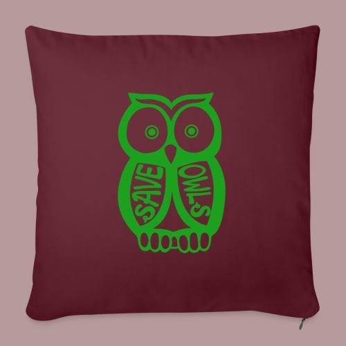 Save owls - Coussin et housse de 45 x 45 cm