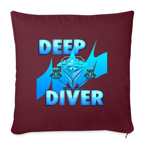 Deep Diver, Ocean Diamond. - Sofa pillow with filling 45cm x 45cm