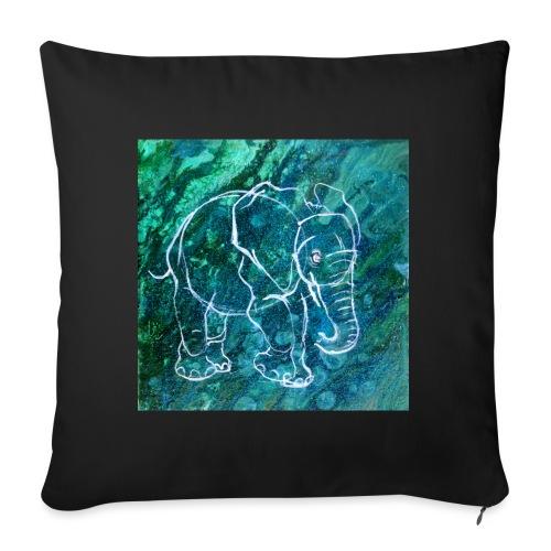 Elefant Pouring LineArt - Sofakissen mit Füllung 44 x 44 cm