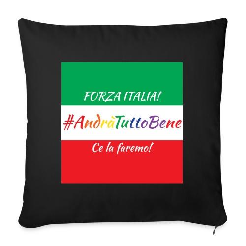 Andrà Tutto Bene su Bandiera Italiana - Cuscino da divano 44 x 44 cm con riempimento