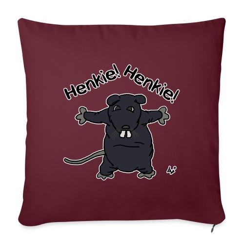 Henkie! Henkie! (the plush rat) - Poduszka na kanapę z wkładem 44 x 44 cm
