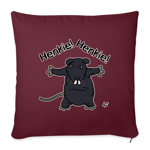 Henkie! Henkie! (the plush rat) - Sofapude med fyld 44 x 44 cm
