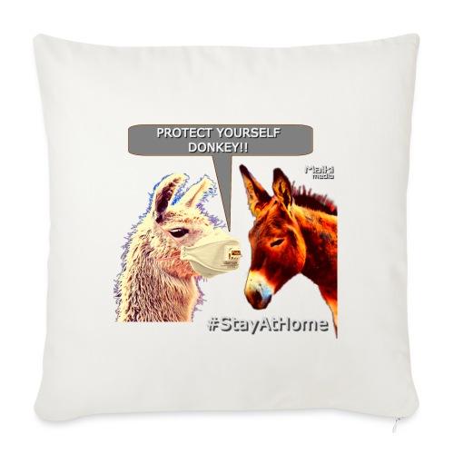 Protect Yourself Donkey - Coronavirus - Cojín de sofá con relleno 44 x 44 cm