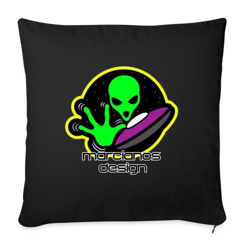 Accesorios Logo Marcianos Design - Cojín de sofá con relleno 44 x 44 cm