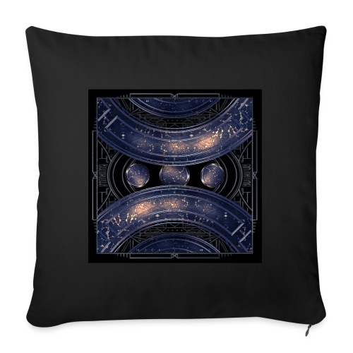 Universe outer space blue outer space galaxy art - Sofa pillow with filling 45cm x 45cm