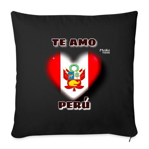 Te Amo Peru Corazon - Coussin et housse de 45 x 45 cm