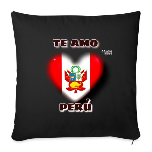 Te Amo Peru Corazon - Sofakissen mit Füllung 44 x 44 cm