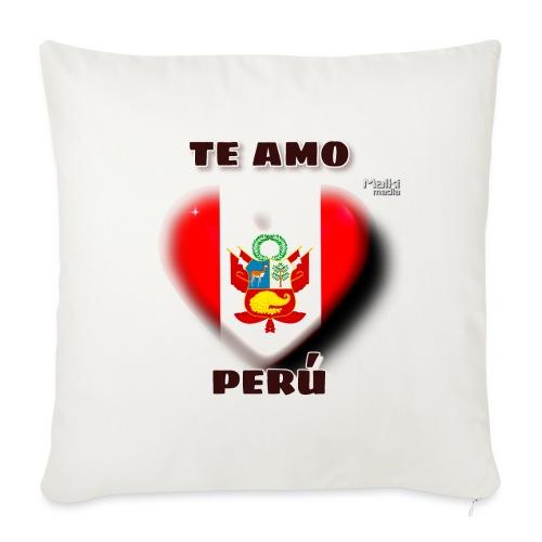 Te Amo Peru Corazon - Cojín de sofá con relleno 44 x 44 cm