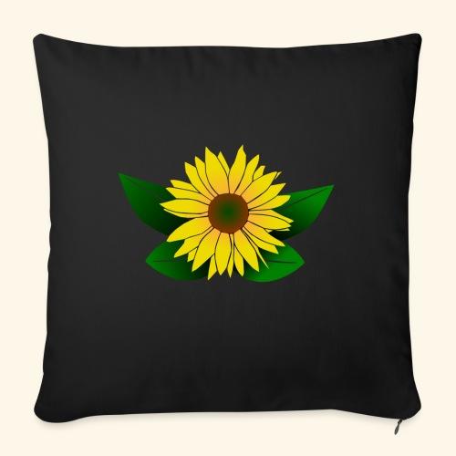 Sonnenblume, Sonnenblumen - Sofakissen mit Füllung 44 x 44 cm