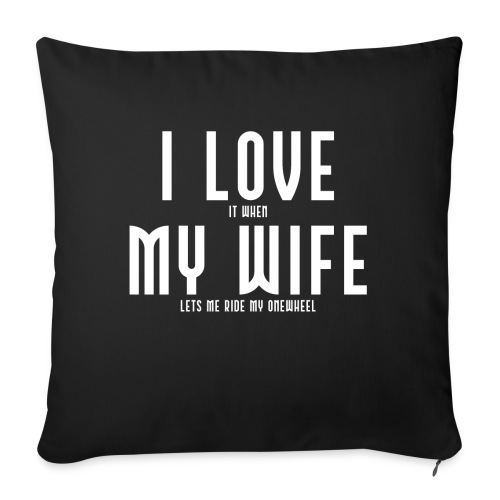 i love my wife - Sofapude med fyld 44 x 44 cm