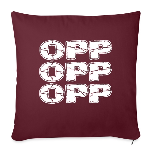 OPP Logo White - Sohvatyynyt täytteellä 44 x 44 cm