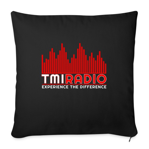 NEW TMI LOGO RED AND WHITE 2000 - Sofa pillow with filling 45cm x 45cm