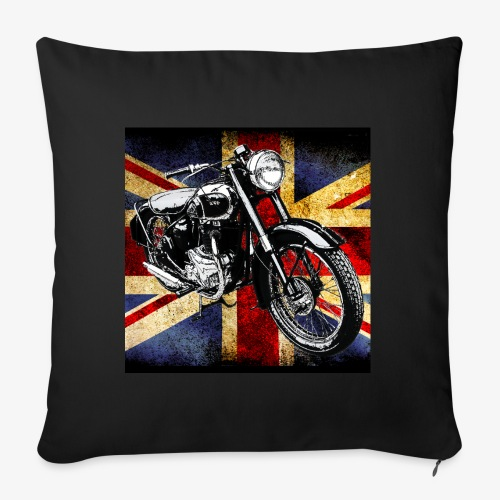 BSA motor cycle vintage by patjila 2020 4 - Sofa pillow with filling 45cm x 45cm