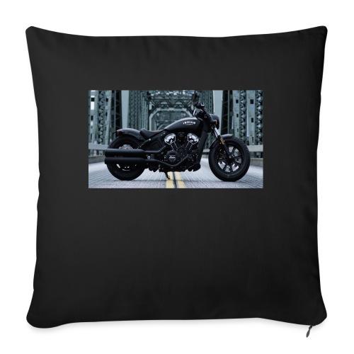 Passione per le moto - Cuscino da divano 44 x 44 cm con riempimento