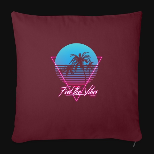 Feel the Vibes - Cuscino da divano 44 x 44 cm con riempimento