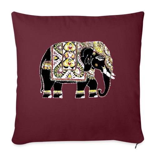 Indian elephant for luck - Sofa pillow with filling 45cm x 45cm