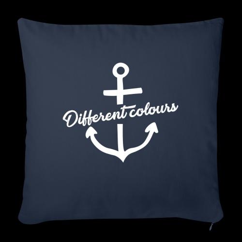 Different Colours White Logo - Cuscino da divano 44 x 44 cm con riempimento