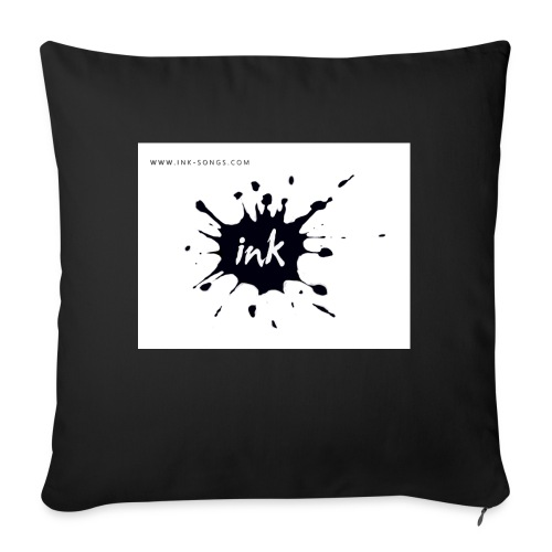 Ink Logo and website - Sofa pillow with filling 45cm x 45cm