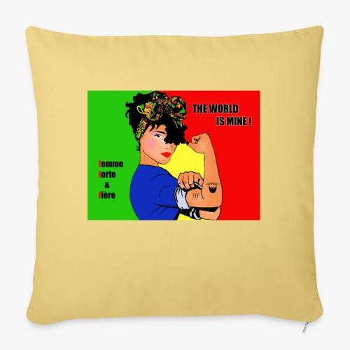 FFF strong & proud woman - Sofa pillow with filling 45cm x 45cm