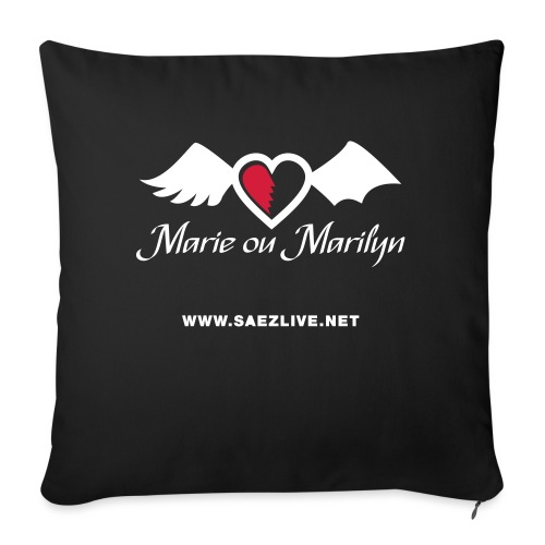Marie ou Marilyn (version light) - Coussin et housse de 45 x 45 cm