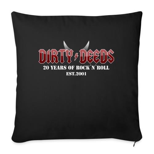 Dirty Deeds 20 Anniversary Druck f dunkel - Sofakissen mit Füllung 44 x 44 cm