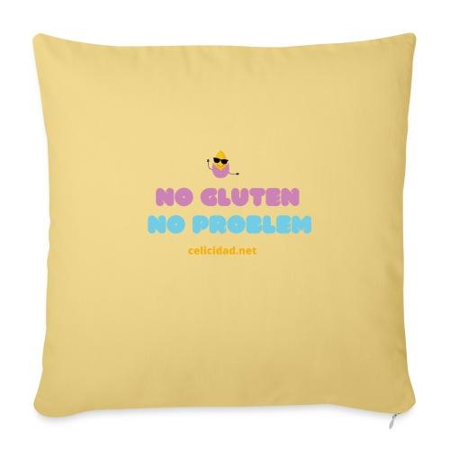 No Gluten No Problem 2 - Cojín de sofá con relleno 44 x 44 cm