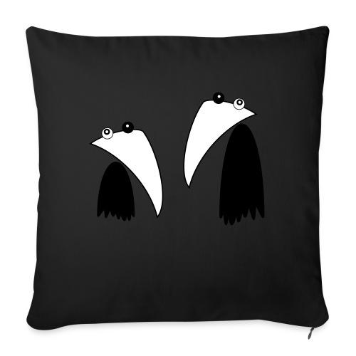 Raving Ravens - black and white 1 - Coussin et housse de 45 x 45 cm