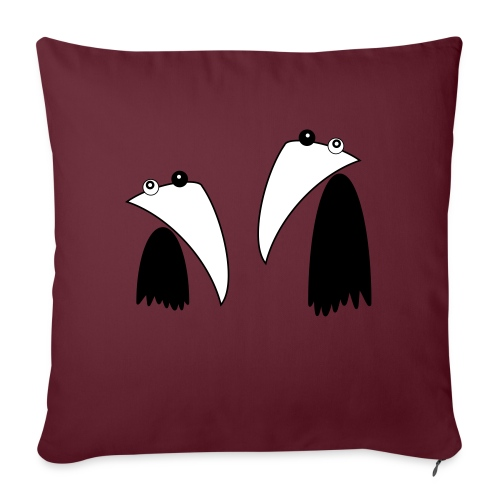 Raving Ravens - black and white 1 - Sofa pillow with filling 45cm x 45cm